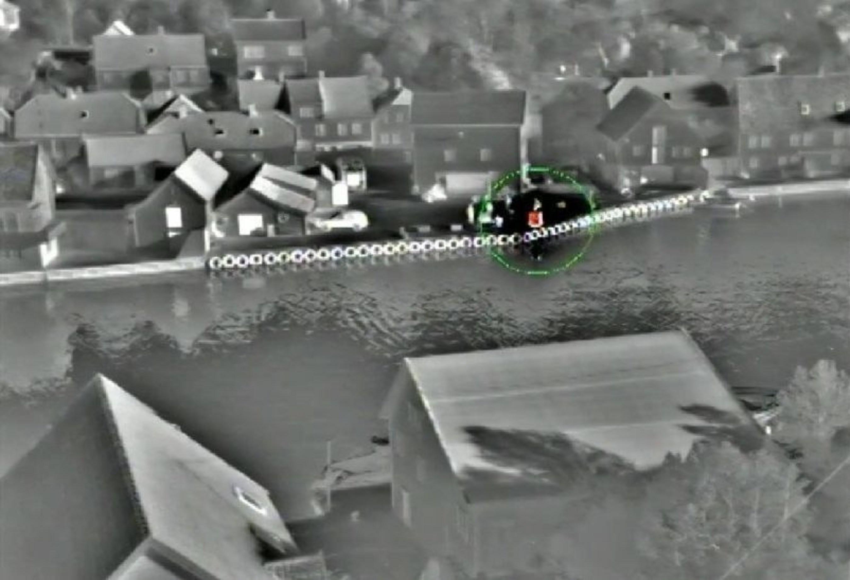 Fire Detection at 150m (PRNewsFoto/Opgal) (PRNewsFoto/Opgal)