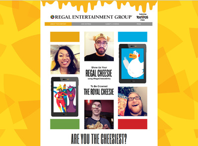 Regal Entertainment Group and Tostitos ask consumers to share their cheesiest selfies to win a VIP Weekend in Hollywood. Source: Regal Entertainment Group (PRNewsFoto/Regal Entertainment Group)