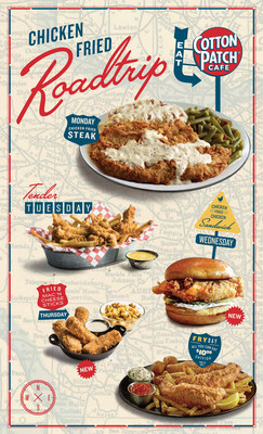 Cotton Patch Cafe launches Chicken Fried Road Trip August 15-October 30.