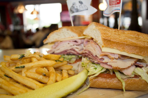 The Farrell's GastronomicalDelicatessenEpicurean's Delight Sandwich is a mouthful to say and to eat. ...