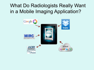 More Than 80% of Radiologists Use Mobile Devices for Medical Imaging. (PRNewsFoto/Viewbox Holdings, LLC) (PRNewsFoto/VIEWBOX HOLDINGS, LLC)