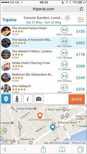 Hotel Comparison Start-up Triporia Announce Revolutionary Mobile Website Design