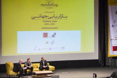 """Global Marketing Summit in Tehran, IRAN, NOV. 2015 By """"The P World"""" and organized by """"Mana Payam Public Relations"""" Discussion Panel - Photo By: Mani Lotfizadeh (PRNewsFoto/Mana Payam Company) (PRNewsFoto/Mana Payam Company)"""