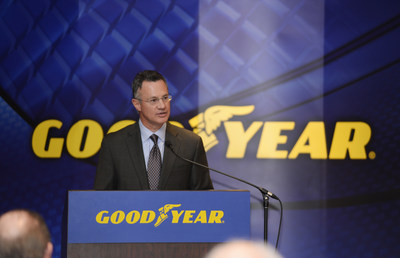 Richard J. Kramer, chairman and chief executive officer of The Goodyear Tire & Rubber Company, speaks at the Annual Shareholders' Meeting on April 13, 2015.  Kramer told shareholders that the record-setting earnings achieved in 2014 were a big step on Goodyear's path to long-term growth.