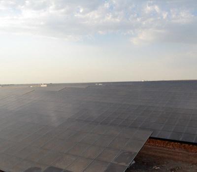 BELECTRIC Solar Power Plant Nataram near Mandsaur, India, with 23MW DC capacity.