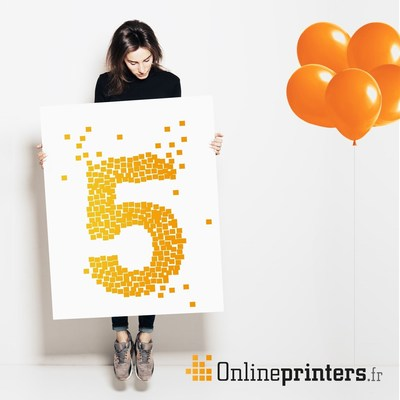 Onlineprinters GmbH celebrates five-year anniversary in France. (PRNewsFoto/Onlineprinters GmbH)