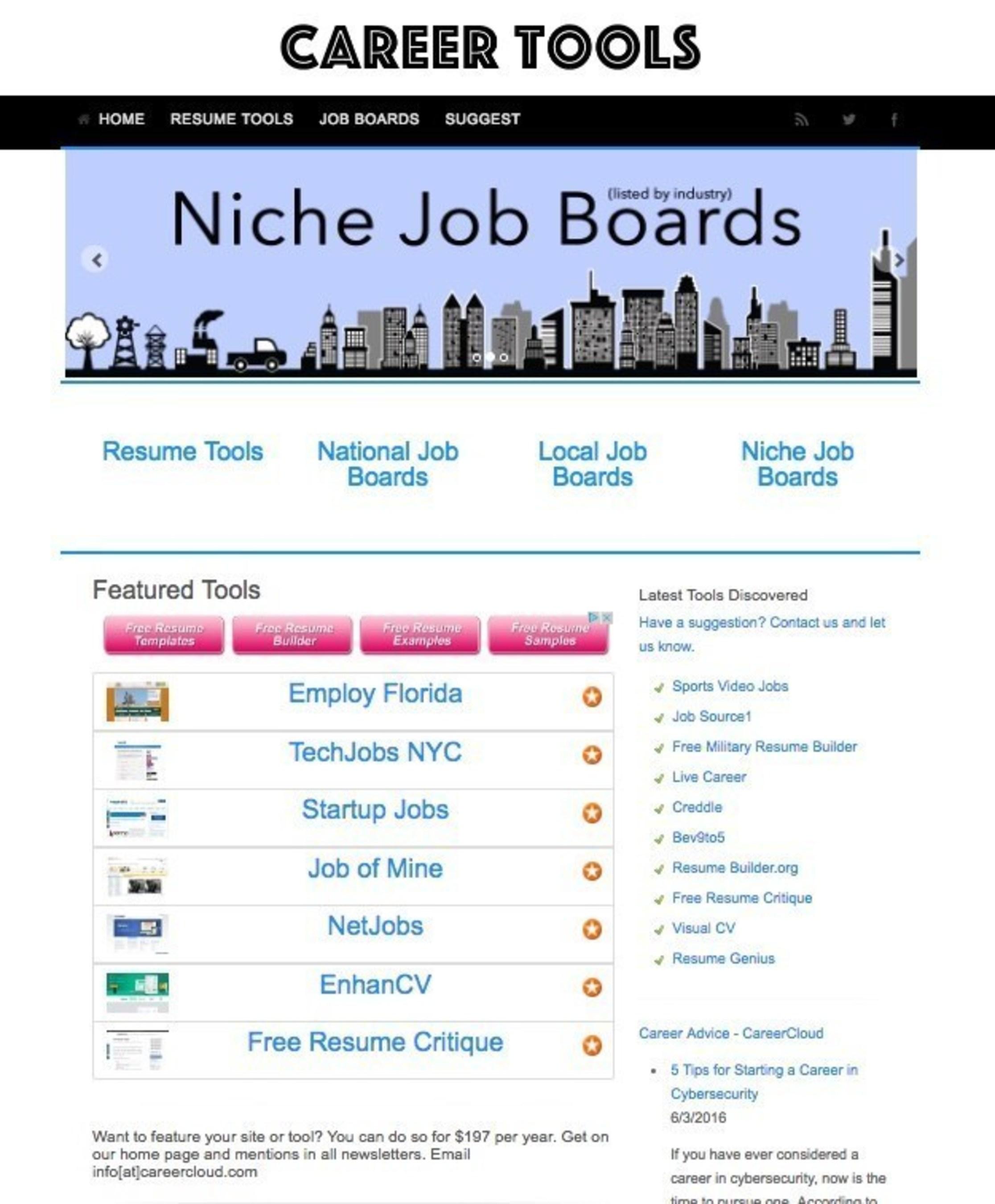 Career Tools Screenshot