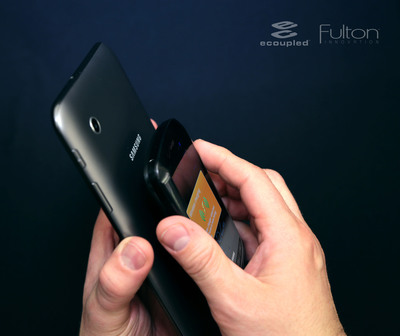 Fulton Innovation's two-way charging means a tablet can be charged wirelessly, which in turn is used to charge a mobile phone, all without wires. The first showing of the technology will be at the 2013 Consumer Electronics Show.
