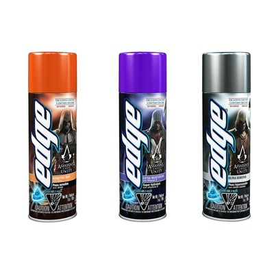 Assassin's Creed Unity Limited Edition Edge Shave Gel Cans
