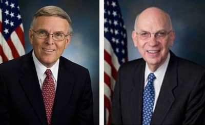 Former U.S. Senators Byron Dorgan of North Dakota (left) and Robert F. Bennett of Utah (right) announced today are joining Arent Fox LLP as Senior Policy Advisors in the Government Relations Practice.  (PRNewsFoto/Arent Fox LLP)