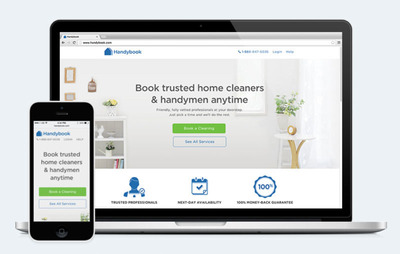 Handybook, the leading on-demand home service brand, announces additional $30mm raise to continue to build exceptional consumer experience across markets. (PRNewsFoto/Handybook)