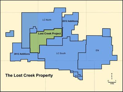 Ur-Energy's Lost Creek Property as of February 29, 2012.  (PRNewsFoto/Ur-Energy Inc.)
