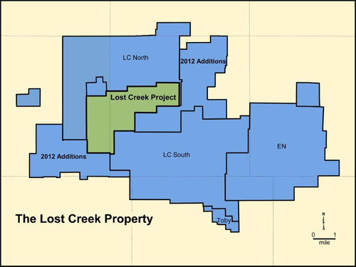 Ur-Energy's Lost Creek Property as of February 29, 2012.  (PRNewsFoto/Ur-Energy Inc.)