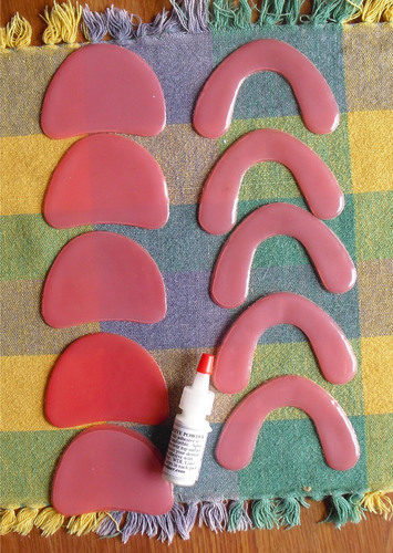 Weber Denture Liner rows.  (PRNewsFoto/Originals By Weber)