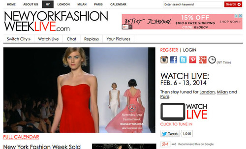 New York Fashion Week Live (MB, MADE and Independent). (PRNewsFoto/Fashion Week Online) (PRNewsFoto/FASHION WEEK ONLINE)