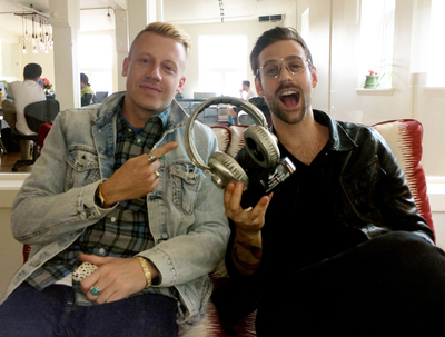 Macklemore & Ryan Lewis accept the inaugural 2014 SoundExchange PULSE Award. (PRNewsFoto/SoundExchange)
