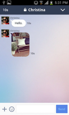 Receiver: A user is able to open a message (PRNewsFoto/LINE Corporation)