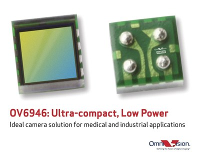 OV6946: Ultra-compact, low power camera solution for medical and industrial applications.