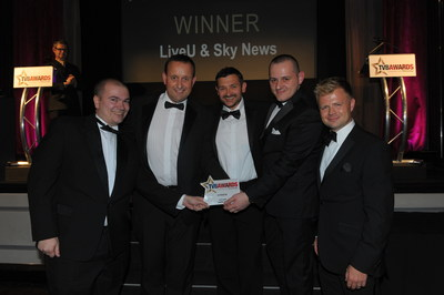 LiveU and Sky News win the TVB Award for Best Live Broadcast (PRNewsFoto/LiveU)