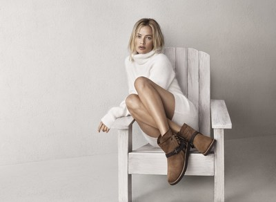 Model Carolyn Murphy in the Karisa boot from the new Classic Luxe Collection by UGG