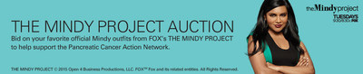 Designer outfits from THE MINDY PROJECT will be auctioned off on eBay, leading up to the Season Finale airing Tues., March 24 (9:30-10:00 PM ET/PT) on FOX.
