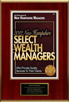 "John Deachman Selected For ""2012 New Hampshire Select Wealth Managers."" (PRNewsFoto/American Registry) (PRNewsFoto/AMERICAN REGISTRY)"
