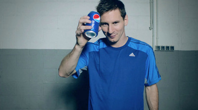 Pepsi Builds Global Football Excitement for 2014 With New Leo Messi Campaign That Sets Off Can Trick Around The World. (PRNewsFoto/PepsiCo) (PRNewsFoto/PEPSICO)