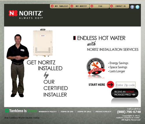 Dallas Tankless Water Heater Installation Now Just a Click Away