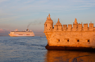 Among Crystal Cruises' luxury itineraries of five to 108 days are several voyages through the beautiful port of Lisbon.  (PRNewsFoto/Crystal Cruises)