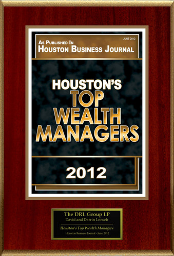 "The DRL Group Selected For ""Houston's Top Wealth Managers"".  (PRNewsFoto/The DRL Group)"