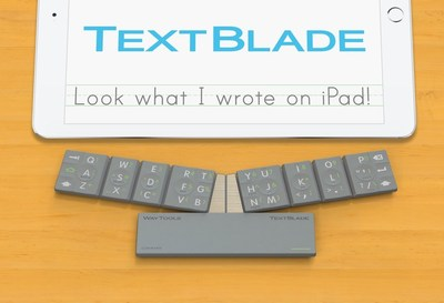 TextBlade. Now, iPads Get Keys. iPads are magical learning machines, but kids also need real keys to write proficiently. TextBlade brings state-of-the-art typing to iPad, while preserving all of its simplicity and fun. (PRNewsFoto/WayTools)