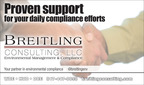 Breitling Consulting LLC is your partner in environmental compliance.  (PRNewsFoto/Breitling Consulting LLC)