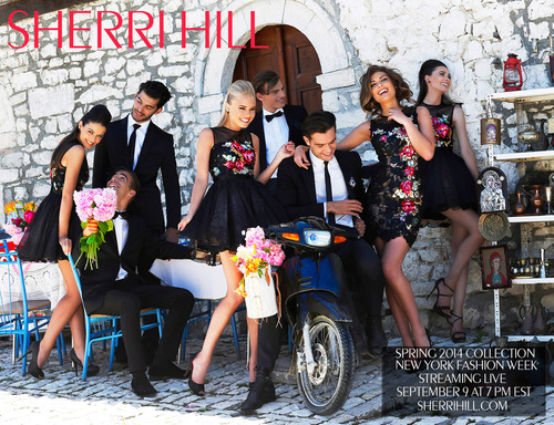Sherri Hill New York Fashion Week runway show streaming live September 9th at 7PM EST.  (PRNewsFoto/Sherri Hill)