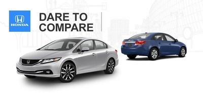 Compare popular compact sedans at Allan Nott today (PRNewsFoto/Allan Nott Honda)