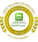Velocify Recognized Most Valuable Technology by the 2015 LeadsCouncil LEADER Awards in the Insurance and Mortgage categories.