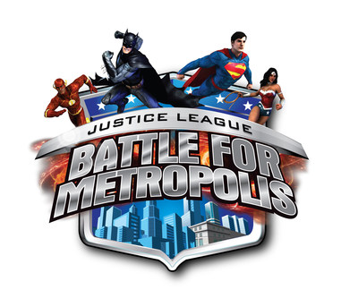 Six Flags Over Texas, the Thrill Capital of Texas, in partnership with Warner Bros. Consumer Products and DC Entertainment, today announced the next generation of interactive thrills with the debut of an all-new 3D interactive dark ride attraction, JUSTICE LEAGUE: BATTLE FOR METROPOLIS. (PRNewsFoto/Six Flags Over Texas)