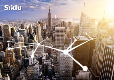 Skywire Networks, the business division of Xchange Telecom, has selected Siklu Inc. for its easy-to-deploy solutions to enable multi-gigabit broadband for commercial buildings in New York City (PRNewsFoto/Siklu Inc.)