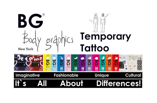 Body Graphics Temporary Tattoo - Emerging fashion trend from New York