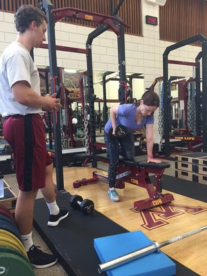 In addition to weight training, Wounded Warrior Project Alumni also received nutritional coaching during an event at the University of Minnesota.