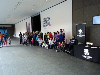 A group of injured service members and their families visited Carnegie Museum of Natural History.