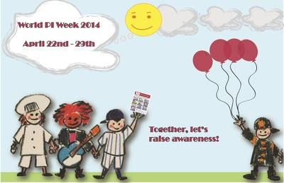 World Primary Immunodeficiency Week - April 22nd-29th, 2014 (PRNewsFoto/Jeffrey Modell Foundation )
