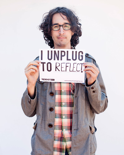He'll #unplug on March 1. Will you?NationalDayofUnplugging.com.  (PRNewsFoto/Reboot)