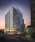Developer Schnitzer West plans 16-story office building at 415 106th Ave. NE in Bellevue (rendering courtesy of Studio 216).  (PRNewsFoto/Schnitzer West LLC)