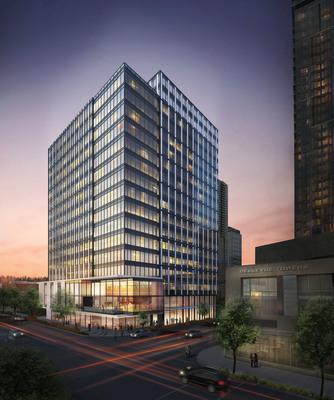 Developer Schnitzer West plans 16-story office building at 415 106th Ave. NE in Bellevue (rendering courtesy of Studio 216). (PRNewsFoto/Schnitzer West LLC) (PRNewsFoto/SCHNITZER WEST LLC)