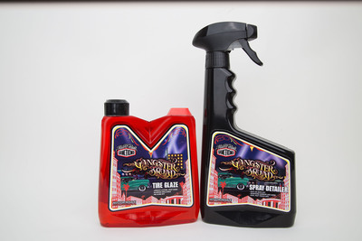 """Gangster Squad"" Limited Edition Tire Glaze and Spray Detailer by Mister Cartoon's Sanctiond(TM).  (PRNewsFoto/Sanctioned Automotive Group, LLC)"