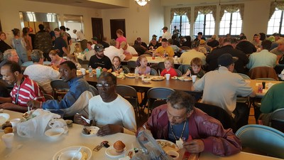 Feeding thousands with food and the Gospel at Trinity Episcopal Church