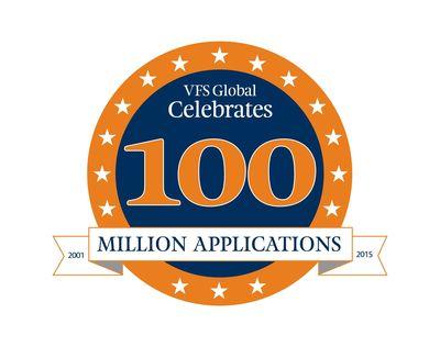 100 Million Logo (PRNewsFoto/VFS Global Services  Pvt. Ltd.)
