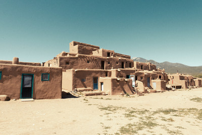 Adobe Buildings in Taos Pueblo - Heritage Inspirations cultural tours in New Mexico