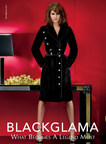 An ad from Blackglama's Fall 2014 campaign featuring Hilary Rhoda. (PRNewsFoto/Blackglama)