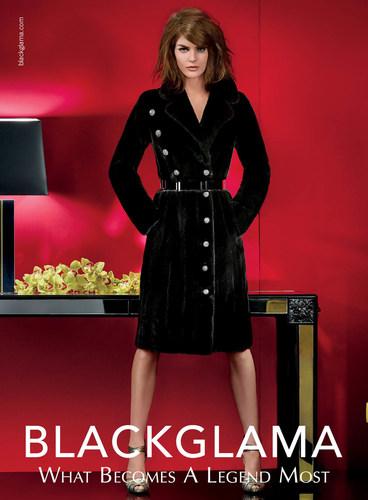 An ad from Blackglama's Fall 2014 campaign featuring Hilary Rhoda. (PRNewsFoto/Blackglama)